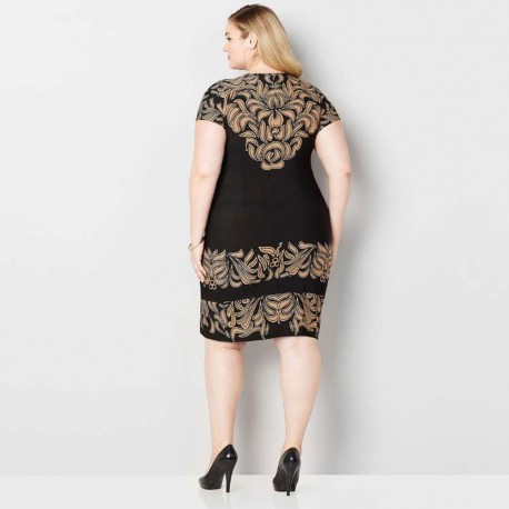 Printed Casual Plus-size Dress